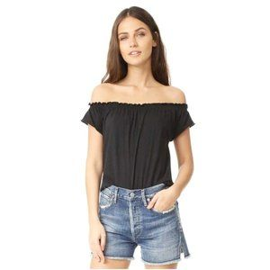 Chaser Off-The-Shoulder Shirred Tee Oversized Top